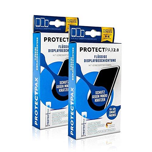 ProtectPax 2.0 Flüssiger Displayschutz aus der Fernsehshow Die Höhle Der Löwen - innovativer Displayschutz für alle Handys & Marken (2er Set)