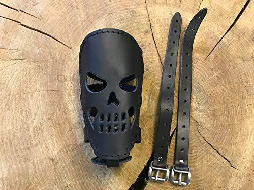 Skull Chopper (ORLETANOS Skull Flaschehalter kompatibel mit Harley Davidson Dosenhalter Getränkehalter Hot Rod V8 Beachcruiser Trike Quad Fahrrad Moped Motorrad Leder Chopper Fatboy Heritage Slim schwarz Totenkopf)