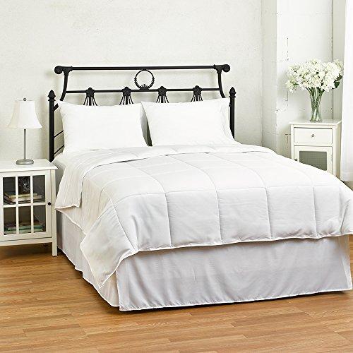 eLuxurySupply exceptionalsheets Weiß, die Alternative Tröster-Bettbezug Einsatz von ägyptische Baumwolle, Polyester, Weiß, Twin/Twin XL -