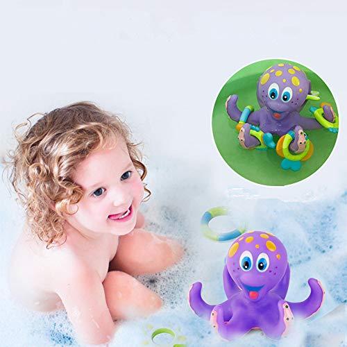 Gaddrt Badepuppen Baby Badespielzeug Kinder Badewanne Spielzeug Krake Pool Wasser Floating Fun Play 16x16x12cm
