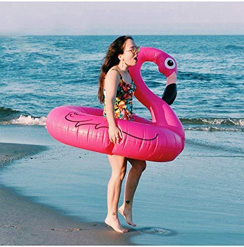 FiYenn Flamingo-Schwimmring,120cm Aufblasbares Schwimmtier, Badetier, Riesen Luftmatratze,Passend für Kinder und Erwachsene
