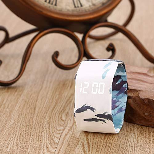 Lorenlli Personalisierte Papieruhr Leben Wasserdichte Papierband Magnetverschluss Schnalle ultraleichte LED Digitaluhr für Männer Frauen