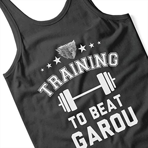 Training to Beat Garou One Punch Man Womens Vest Black
