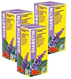 Diabetin Phyto Concentrate Pack Of 3 - 21 Day Course - Natural Plant Extracts - Effective Sugar & Cholesterol Control - Weight Control
