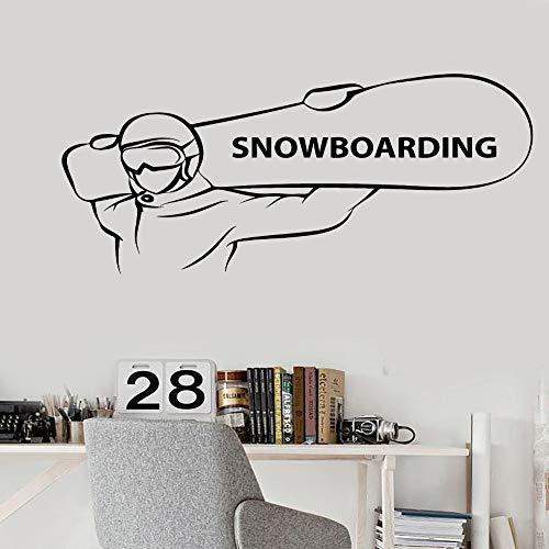 TYLPK Einfache Heißer Verkauf Vinyl Aufkleber Snowboarden Extreme Sport Snowboarder Aufkleber Für Mann Wohnzimmer Dekoration Abnehmbare 114x56 cm -