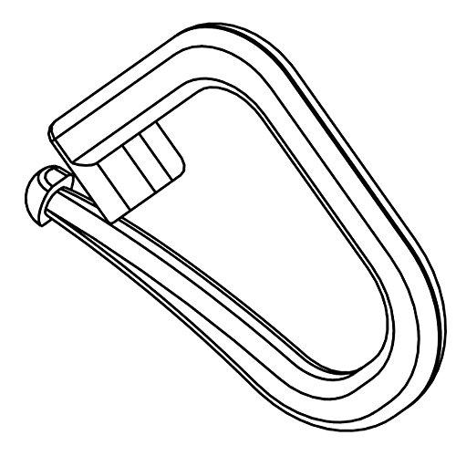 Hochwertige Faltenhalter/Raffrolloclipse verschließbar für Raffrollo zum Festen Raffen des Raffrolloband - Verschiedene Größen: 25 50 100 Stück - Made in Germany (25)