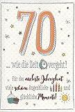 Geburtstagskarte zum 70. Geburtstag .. wie die Zeit vergeht. - DEPLM008