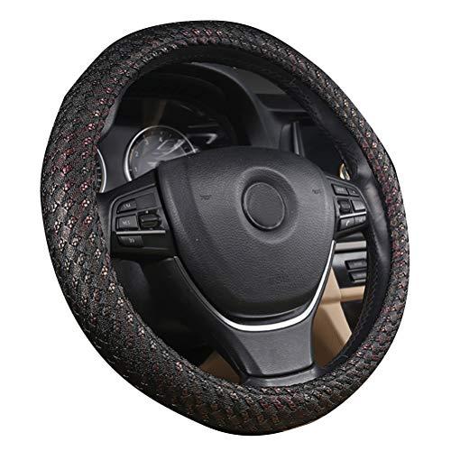 Couverture de volant de voiture de style 15 pouces décoration intérieure couverture sport en fibre de carbone pour BMW X1 X3 X5 X6 E36 E39 E46 E30 E60 E90 E92 rouge
