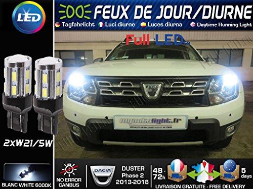 MyAutoLight - Coffret Ampoules Led Voiture - Blanche Xénon Pour Duster Phase 2 - Feux De Jour - Veilleuses - Position