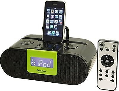 Roadstar Station d'accueil pour iPod/iPad/iPhone avec réveil et radio FM PLL Vert de Roadstar