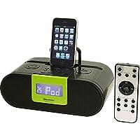 Roadstar HRA-500IP/GR - Estación docking con radio para Apple (2 x 2 W RMS, pantalla LCD, FM/PLL), color negro