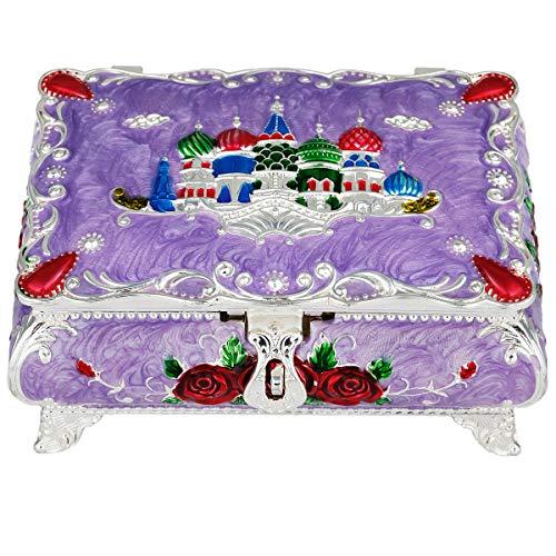 mookaitedecor Schmuckschatullen Damen Dekorative, Vintage Trinket Box zur Aufbewahrung Halsketten Ohrringe Armbänder Accessoires für Frauen Mädchen - Aufbewahrung Dekorative Boxen