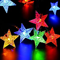 NNIUK 40 LED hada de la estrella Luces de la secuencia con pilas para la fiesta de Navidad de la decoración del jardín de Halloween.