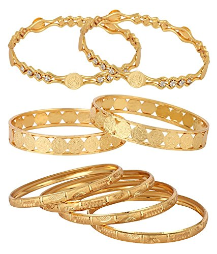 jewels galaxy combo of temple coin gold plated bangle set of 6 for women Jewels Galaxy Combo Of Temple Coin Gold Plated Bangle Set Of 6 For Women 510gVJFJyXL