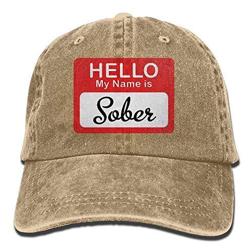 Vidmkeo Hallo, Mein Name ist nüchterner Cowboy-Hip-Hop-Hut, hintere Kappe, verstellbare Kappe, Design8 - Hintere Vitrine