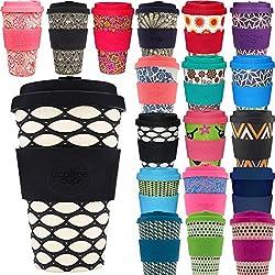 LS-Design Bambus Coffee to Go Becher 400ml Basket Case Ecoffee Cup
