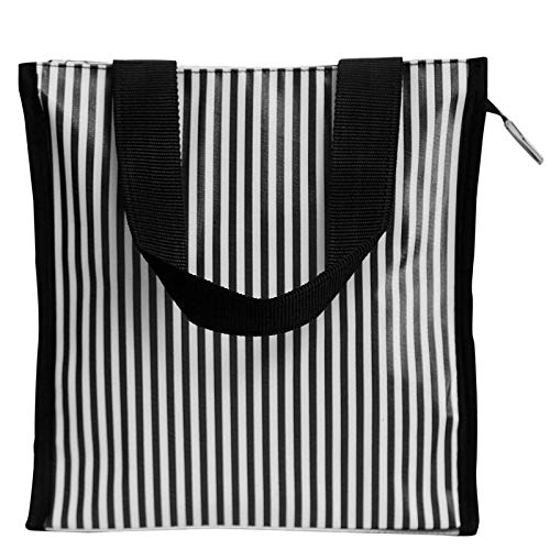 Marine Pearl Premium Tote Lunch Bag for Men & Women (Black & White)
