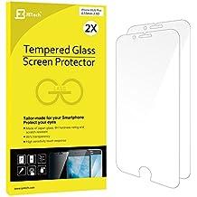 JETech 0813 - Protector de pantalla de vidrio templado para Apple iPhone 6 Plus/6s Plus, transparente (incluye 2 unidades)