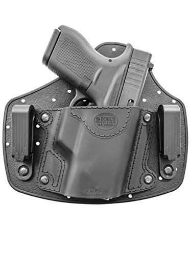 P238 Sauer Sig Holster (Fobus IWBS Holster Right Hand IWB Inside Waistband Passive Retention Holster for Glock 42 / Beretta Nano / Sig Sauer P938, P238 / Walther CCP, P22, PK522, PK380 / Smith & Wesson S&W Bodyguard / Ruger LCP, LC9, LC9s Pistol Handgun)