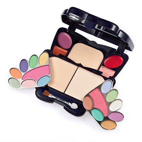 TimeSong Professional Cosmetic Makeup Palette Set Kit (Include: Eyeshadow & Blusher & Face Powder & Lip Gloss) + Makeup Brushes Set (14 colors)
