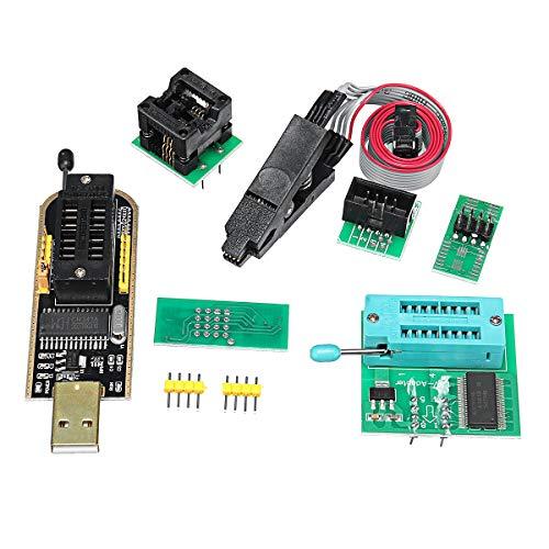 MYAMIA Eeprom Bios USB-Programmierer Ch341A + Soic8 Clip + 1.8 V Adapter + Soic8 Adapter Für 24 25 Serie Flash -