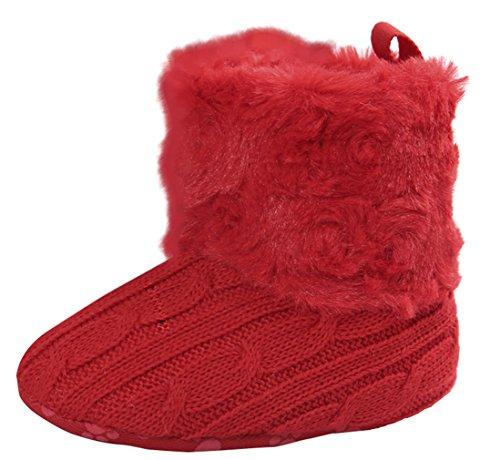 Eozy Chaud Hiver Chaussure Crochet Tricot Bottines Bébé Fille Chaussure Bottine Premier Pas