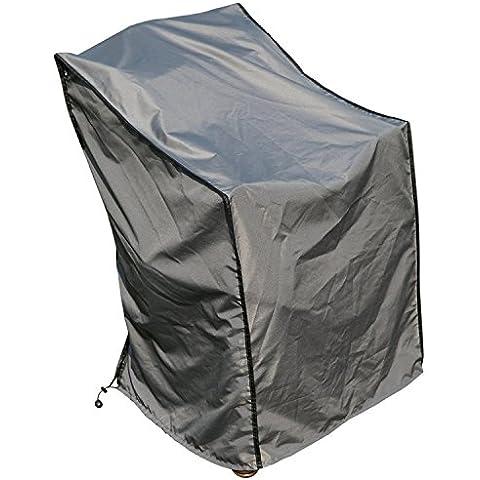SORARA - Funda para Silla   67 x 67 x 80/110 cm (L x A x A)   Gris   Impermeable   Poliéster & con capa de Poliuretano   Para exterior Muebles de Jardín, Terraza, Patio   Alta