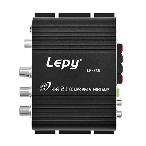 Zerone Mini Amplificador de 2 canales HiFi Estéreo Bass Audio Potencia 15W...