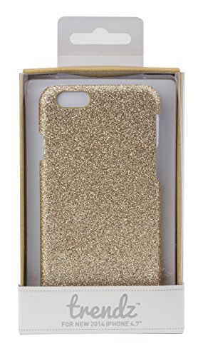 Trendz Hard Shell Schutzhülle Clip-On Case Cover für iPhone 4/4S - London Silhouettes Rose Gold Glitter