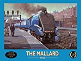 The Mallard in the train station. 4468 Doncaster. Blue train, locomation steam engine. Station Portor. Retro vintage advert. For house, home, bar, pub or shop. Large Metal/Steel Wall Sign