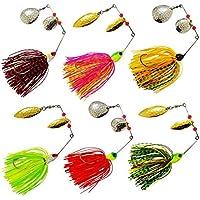 Shaddock Fishing Kit de señuelos de Pesca para Pesca de bajo y Lucio, diseño de cebos y Cuchara de Metal Duro, 6pcs/Lot