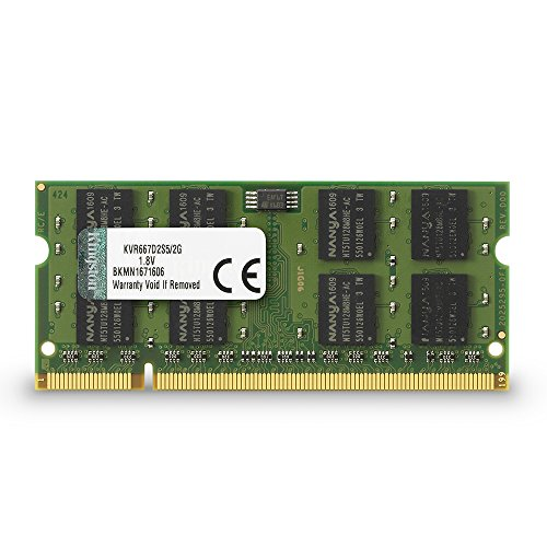 Kingston KVR667D2S5/2G Arbeitsspeicher 2GB (DDR2 Non-ECC CL5 SODIMM, 200-pin, 1.8V) (Ddr2-speicher 2048 Mb)