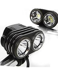 soojet bm022x CREE XM-L L2LED Aluminium Lampe vélo–Éclairage–Bicycle Light–Phare avant pour le vélo–Chic 2LED Oreilles–Fort avec beaucoup Power–Top rapport qualité-prix