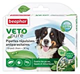 Beaphar - VETOpure, pipettes répulsives antiparasitaires - grand chien (30 kg<) - 6 pipettes