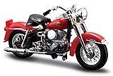 1958 Harley Davidson FLH Duo Glide [Maisto 34360-33-6], Rot, 1:18 Die Cast