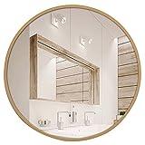 GUOWEI Spiegel Runden Hochauflösend Holzrahmen An Der Wand Montiert Badezimmer Bilden Eitelkeit 4 Farben 4 Größe (Farbe : A, größe : 70x70cm)