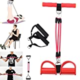 #9: Cable Hunter™ Pedal Resistance Latex Band, Fitness Exercise Equipment for Arm, Leg, Sit - ups stretching(Multi Colour)