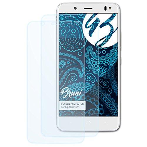 Bruni Schutzfolie kompatibel mit bq Aquaris VS Folie, glasklare Bildschirmschutzfolie (2X)
