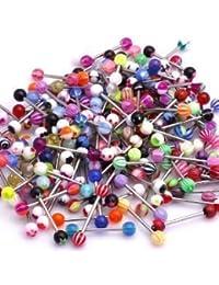 Surtido de 20 piercings para lengua o pezón| Varios Colores y Diseños| NUEVO