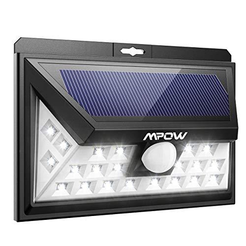Mpow 24 LED Weitwinkel Solarleuchten Außen Solar Betriebene Außenleuchte, Wandleuchte, Energiesparend