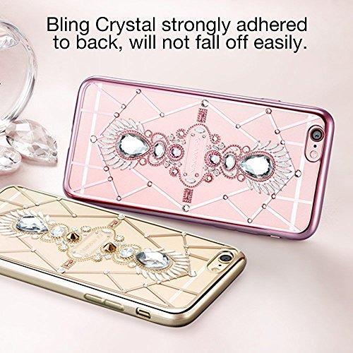 iPhone 6 / 6S Hülle (4,7 Zoll), ESR® GLAMORIN Weiche Silikon Glitzer Schutzhülle für iPhone 6/6s (Margerite Rosa) Margerite_Rosa