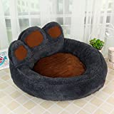 WITREE-Z Pet products, cute pets, plush bear claws, dog house, pet nest, Teddy dog dog bed pet pie,M (60*70*30),Dark grey