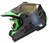 KINDER cross HELM und Schutzbrille Goggles MX BMX Quad ATV Motorradhelm Motorrad - Grün - M (55-56cm)