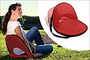 Kawachi Portable Reclining Yoga Chair With 6 Adjustable Positions And Shoulder Strap (Multicolor, 53 cm x 5 cm x 76 cm)