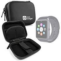 DURAGADGET Estuche Rígido Negro Para Smartwatch Mobiper G08 / Wiseup GT08