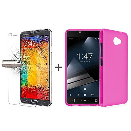 tbocr-pack-pink-tpu-silicone-gel-case-tempered-glass-screen-protector-for-vodafone-smart-ultra-7-sof