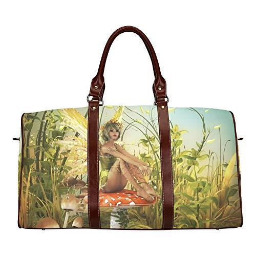 Reisetasche The Spirit Enjoying The Sunshine wasserdichte Weekender-Tasche Reisetasche Damen Damen-Einkaufstasche Mit Mikrofaser-Leder-Gepäcktasche