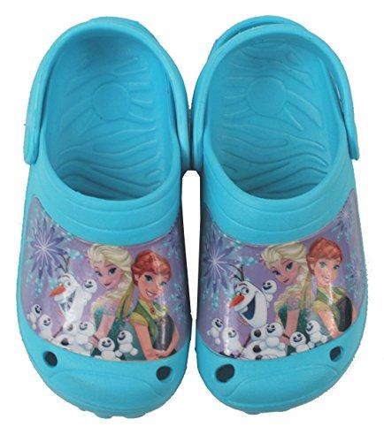 Disney Eiskönigin Mädchen Clogs Eiskönigin/Frozen - Türkis mit Lustigem Motiv (30/31)