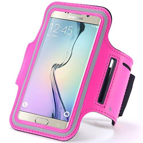 "Rosa al aire libre Correr Deporte Gimnasio brazalete Carcasa para iPhone 7/6S/Samsung Galaxy S7/S6/A3/J3/LG K4/HTC 10/Motorola Moto E 4G/BLU Win 4,5/BLU Win HD 5""4g"