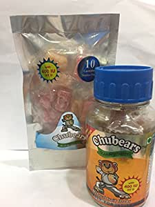 Chubears Multi-Vitamin Gummy (30 Day Pack) + Calcium Plus Vitamin D (400 IU) Gummy (10 Days Starter Pack) Combo